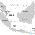 The Strait of Malacca, a Key Oil Trade Chokepoint, Links the Indian and Pacific Oceans